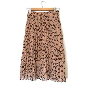 A New Day Pleated Leopard Skirt